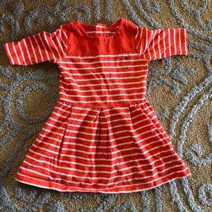 Carter's Dresses - Carter's striped dress orange/white 3T